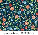vector seamless pattern. cute... | Shutterstock .eps vector #453288775