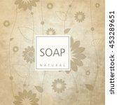 background for natural handmade ... | Shutterstock .eps vector #453289651