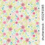seamless cute floral pattern....   Shutterstock .eps vector #453291085