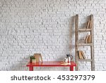 White Brick Wall Interior With...