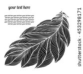 the feather of a bird. black on ... | Shutterstock .eps vector #453298171