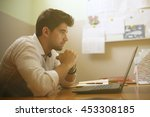 young designer working on... | Shutterstock . vector #453308185