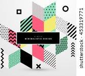trendy geometric flat pattern ... | Shutterstock .eps vector #453319771