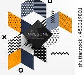 trendy geometric flat pattern ... | Shutterstock .eps vector #453319801