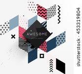 trendy geometric flat pattern ... | Shutterstock .eps vector #453319804
