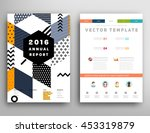 annual report brochure template ... | Shutterstock .eps vector #453319879
