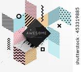 trendy geometric flat pattern ... | Shutterstock .eps vector #453319885
