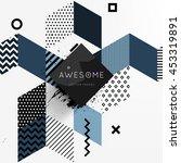 trendy geometric flat pattern ... | Shutterstock .eps vector #453319891