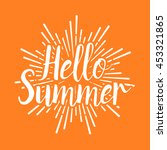 summer vector illustration... | Shutterstock .eps vector #453321865