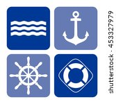 set of sea icons  vector... | Shutterstock .eps vector #453327979