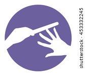nail polish vector icon ... | Shutterstock .eps vector #453332245