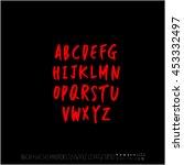 alphabet   number   handwriting ... | Shutterstock .eps vector #453332497