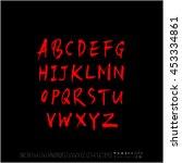 alphabet   number   handwriting ... | Shutterstock .eps vector #453334861