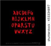 alphabet   number   handwriting ... | Shutterstock .eps vector #453334897