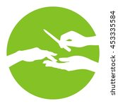 nail polish vector icon ... | Shutterstock .eps vector #453335584