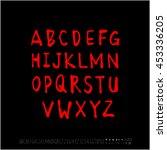 alphabet   number   handwriting ...   Shutterstock .eps vector #453336205