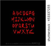 alphabet   number   handwriting ... | Shutterstock .eps vector #453337255