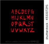 alphabet   number   handwriting ... | Shutterstock .eps vector #453337291
