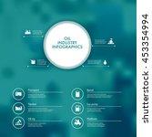 vector infographics with oil... | Shutterstock .eps vector #453354994