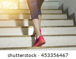 runner athlete running at ... | Shutterstock . vector #453356467