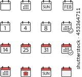 calendar icons | Shutterstock .eps vector #453364711