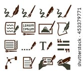 writing icon set | Shutterstock .eps vector #453379771