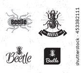 vector black and white logo set ... | Shutterstock .eps vector #453382111