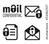 icons letters and documents... | Shutterstock .eps vector #453382537