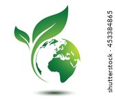 green earth concept with leaves ... | Shutterstock .eps vector #453384865