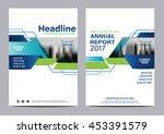 blue brochure layout design... | Shutterstock .eps vector #453391579