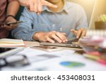 businessman making presentation ... | Shutterstock . vector #453408031
