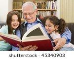 grandfather and grandchildren...   Shutterstock . vector #45340903
