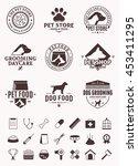 set of vector pet logo and... | Shutterstock .eps vector #453411295