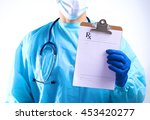 a young doctor in the office... | Shutterstock . vector #453420277