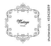 elegant luxury vintage...   Shutterstock . vector #453423859