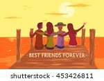 friend celebrating happy... | Shutterstock .eps vector #453426811