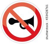 no horn sign on white... | Shutterstock .eps vector #453428761