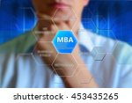 mba concept. button mba  ...   Shutterstock . vector #453435265