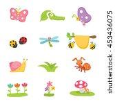 isolated bugs vector cartoon...   Shutterstock .eps vector #453436075