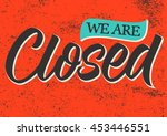 closed calligraphy  handwritten ...   Shutterstock .eps vector #453446551