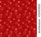 seamless pattern with hearts.  | Shutterstock .eps vector #453453331