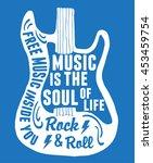 hand drawn rock festival poster.... | Shutterstock .eps vector #453459754