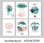hand drawn vector abstract... | Shutterstock .eps vector #453467059
