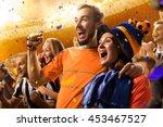 stadium soccer fans emotions... | Shutterstock . vector #453467527