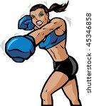 boxing girl | Shutterstock . vector #45346858