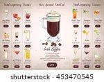 back drawing horisontal... | Shutterstock .eps vector #453470545