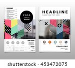 annual report brochure template ... | Shutterstock .eps vector #453472075