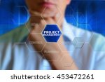 project management concept.... | Shutterstock . vector #453472261