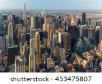 new york city manhattan street... | Shutterstock . vector #453475807