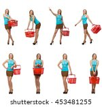 composite photo of woman with... | Shutterstock . vector #453481255
